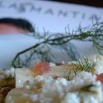 pasta fredda al pesto di limone e tartare di tonno