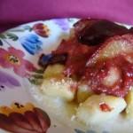 gnocchi alla salsa di  prugne
