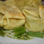 cartoccini di lasagne  al pesto