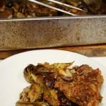 costolette d'agnello al forno con carciofi