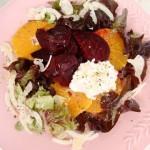 insalata con rape rosse al cartoccio