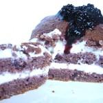 cake alle more e variante con crema di yogurt