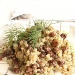 insalata di grano saraceno in salsa all'aneto e ceci neri