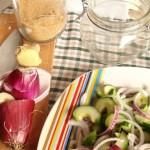 cetrioli e cipolle in salamoia