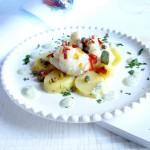 Morsels Monkfish with capers and lemon – bocconcini di coda di rospo ai capperi e limone