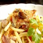 linguine ai filetti di triglie in stile siciliano