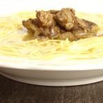 paparele con fegadini in brodo – Veneto