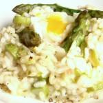 nido di risotto agli asparagi