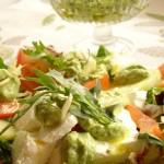 pesto alla rucola per un'insalata