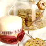 sfoglie di biscotto ai cranberries e pistacchi