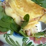 omelette de queijo e presunto – Portogallo