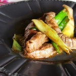 Manzo al salto con cipollotti freschi – Beef jumped with spring onions (Cina)