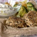 polpette di tofu con olive, pomodorini e aromi freschi