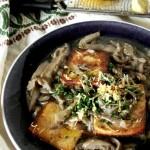 zuppa di funghi con tofu