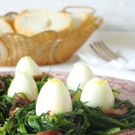 nidi di agretti ai capperi olive e limone