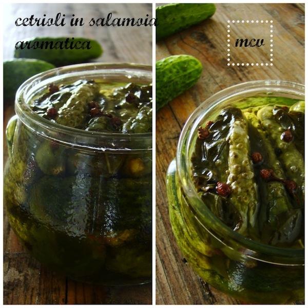 cetrioli in salamoia aromatica