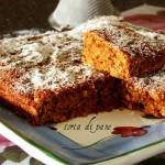 Torta di pane secco al cocco e cioccolato