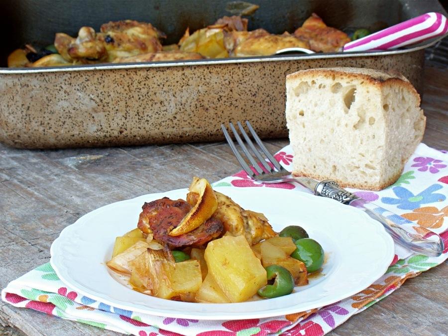 pollo olive patate