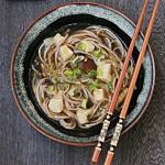 Miso shiitake soba soup (Giappone)