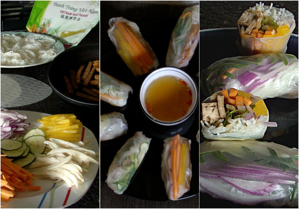 Vietnamese fresh spring roll