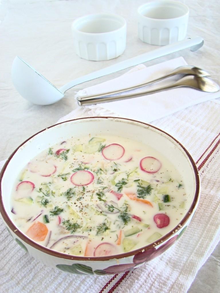 Okroshka zuppa fredda ucraina