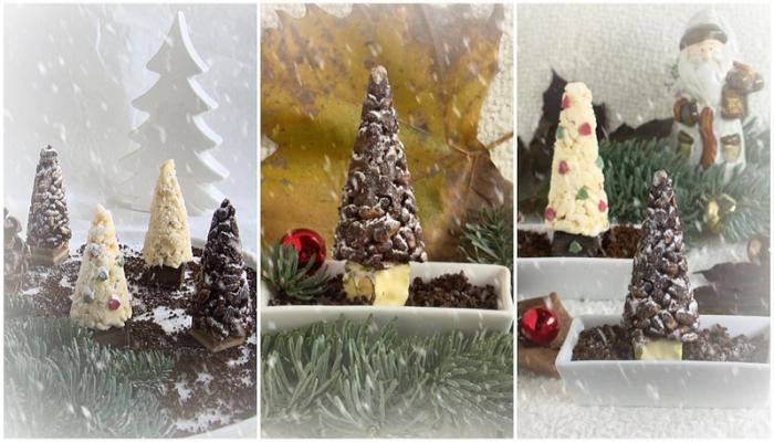 alberi riso soffiato al cioccolato