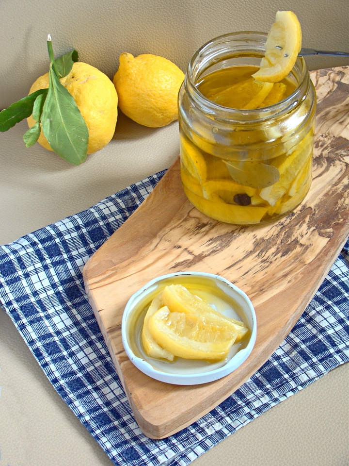 Limoni confit sott'olio