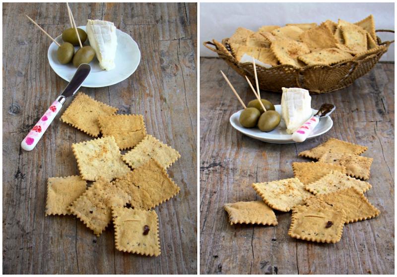 Crackers con pasta madre di esubero