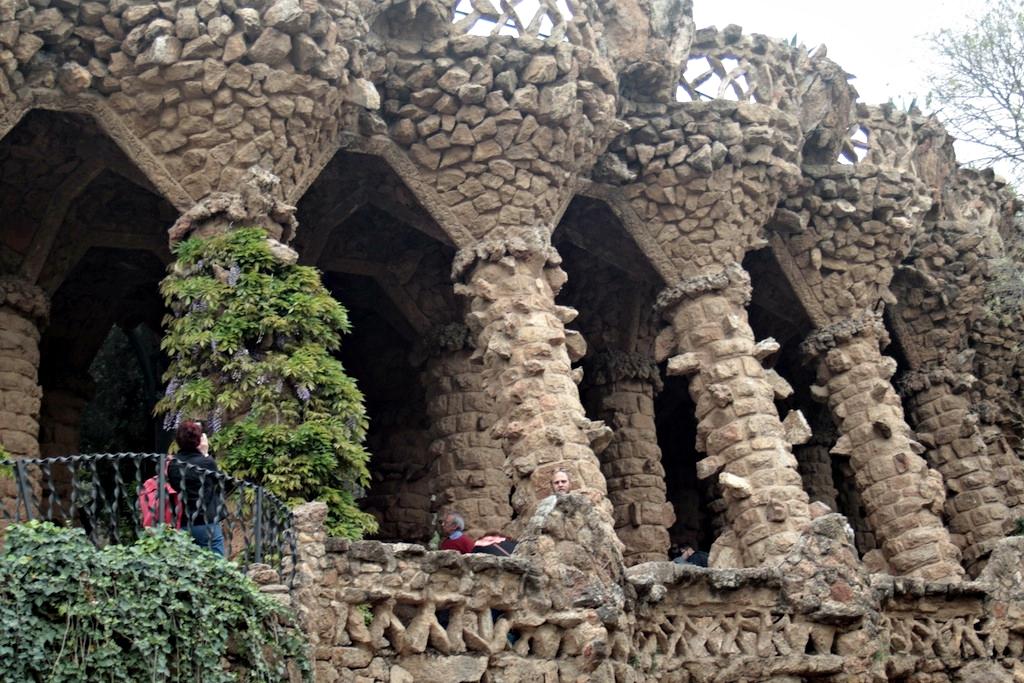 Il bosco di pietra a Parc Guell