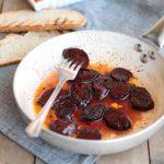 Chorizo al vino rosso e miele