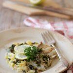 Pesce in gremolada alle olive taggiasche