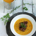 zuppa di zucca al cous cous e funghi