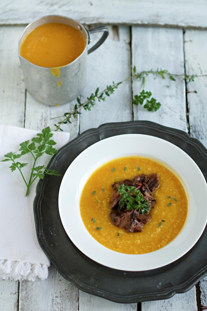 zuppa di zucca al cous cous
