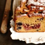plumcake jam and blueberry