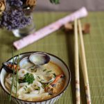 Noodles coconut soup