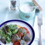 Polpette quinoa piselli vegan