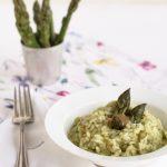 Risotto agli asparagi mantecato alla tahini