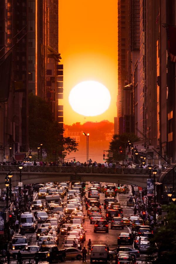 tramonto a Manhattan