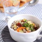 Farro e orzo in insalata tiepida alle verdure