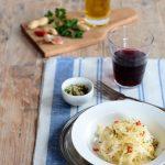 Spaghetti di cavolo all'aglio olio e peperoncino