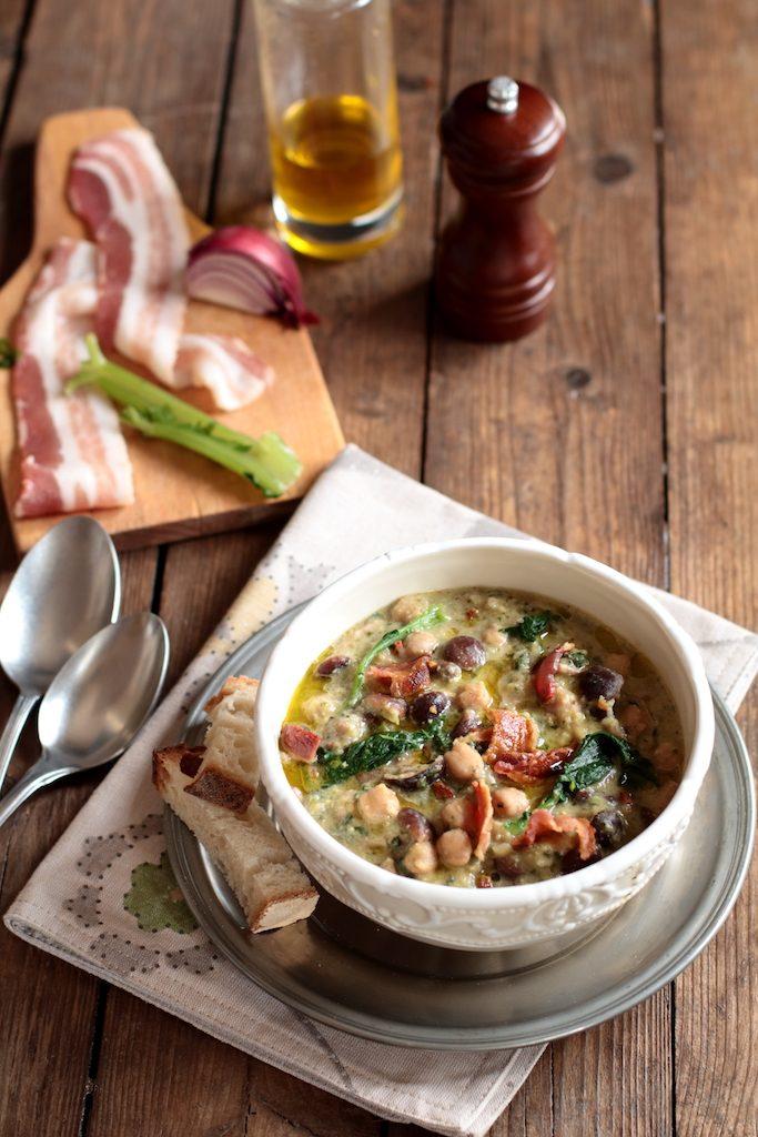 zuppa di ceci e pioppini
