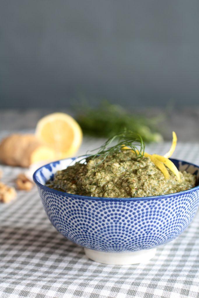 crema ai ciuffi di finocchio limone e zenzero