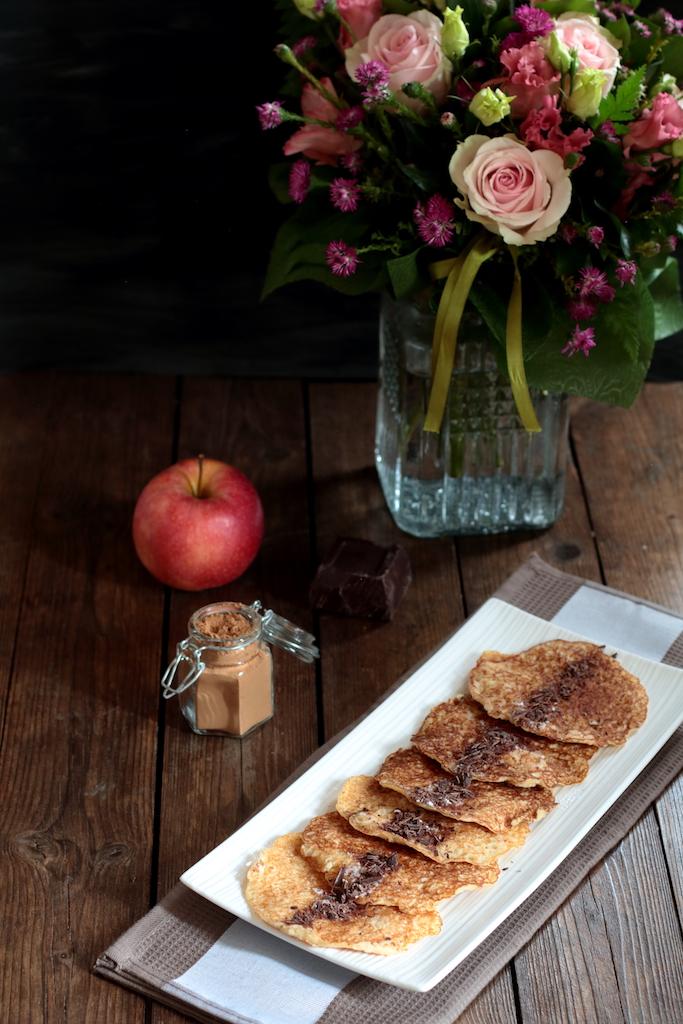 Pancake alla mela e cannella