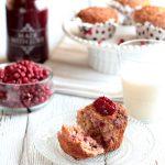 Muffin alla confettura di cranberry