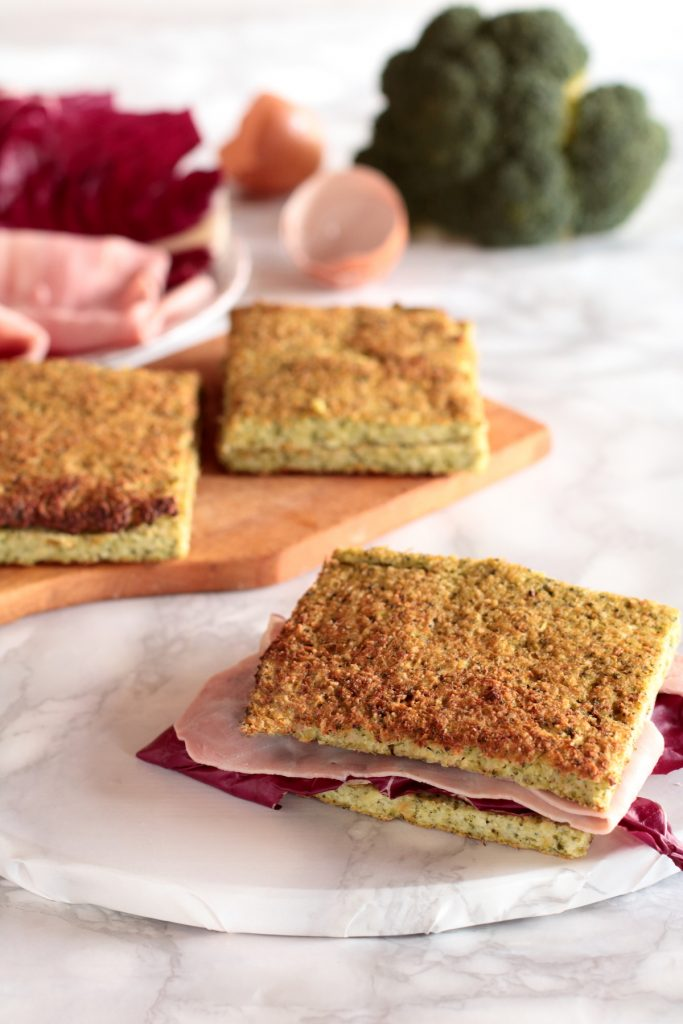 sandwich di broccoletti senza cereali
