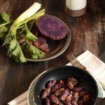 Gnocchi di batata dolce viola in padella