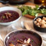 Crema di batata viola e radicchio rosso