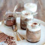 Chia pudding al cacao e latte di cocco