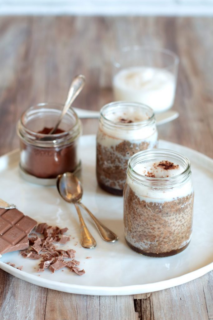 chia pudding al cacao