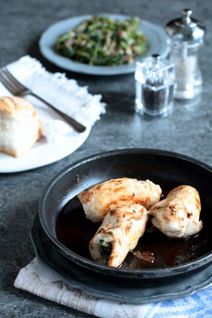 involtini di pollo con erbette